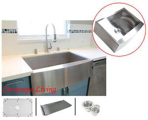 36-Stainless-Steel-Curve-Apron-Kitchen-Farm-Sink-Combo