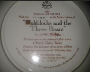 "Collector Plate: ""Goldilocks and the Three Bears"" Peterborough Peterborough Area image 2"