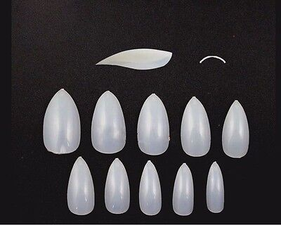 Fake Vampire Nails (20 100 500 Full Cover Fake Nails False Tips Curved Vampire Stiletto Pointed)