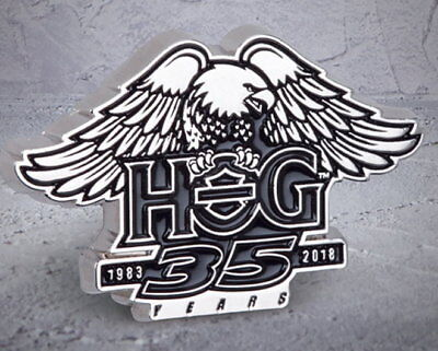 HARLEY DAVIDSON OWNERS GROUP 35TH ANNIVERSARY PIN VEST JACKET PIN 115TH HOG