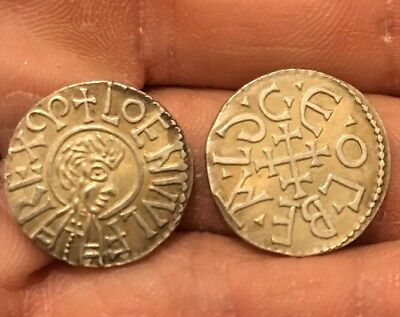 RESTRIKE 1 Penny king Coenwulf of Mecia 796 - 821) Ancient Coin Silver Plated