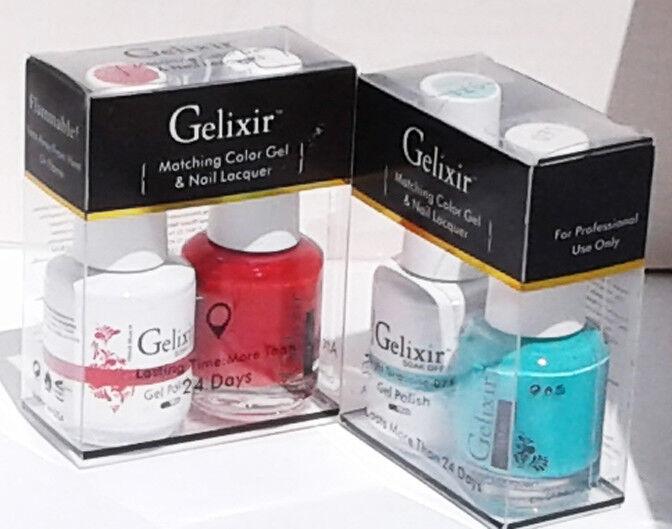 GELIXIR Duo Gel Polish Set, Colors #073 TO #144, 5 fl. oz e