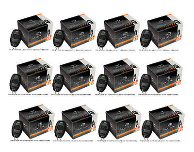 Lot of 12 Avital 4113LX 1 Way Remote Car Starter w/ 1 One Button Transmitter