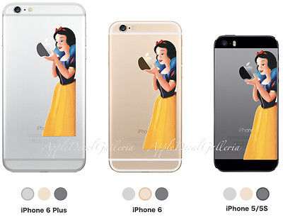 Snow White Apple iPhone SE iPhone 5S iPhone 6 iPhone 6 Plus Decal Sticker Skin