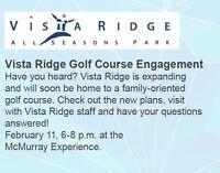 Vista Ridge golf course engagement