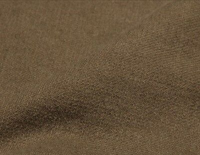 - Upholstery Fabric Khaki Slipcover Washed Twill 100% Cotton Heavyweight Dark BTY