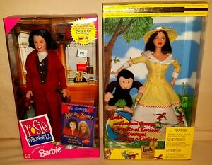 Rosie O'Donnell & Curious George Barbie, Wizard of Oz 8 doll set