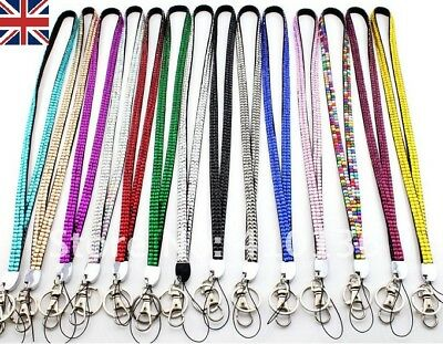 Lanyard ID badge card holder Neck Strap sparkly clip  Rhinestones /diamante  (Badge Card Holder Clip)
