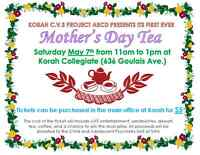 Mother's Day Tea Presented by Korah's Project ABCD