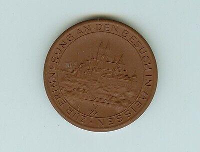 DDR Medaille Meissen Böttger Steinzeug Erinnerung Besuch Meissen