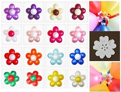 1 Balloon (1-100 pcs Latex Balloon Arch Stand Connectors Clip Flower Shape Sealed)