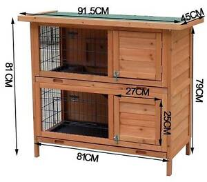 New Rabbit Hutch with BASE Chicken Coop 2 Storey Guinea Pig cage Auburn Auburn Area Preview