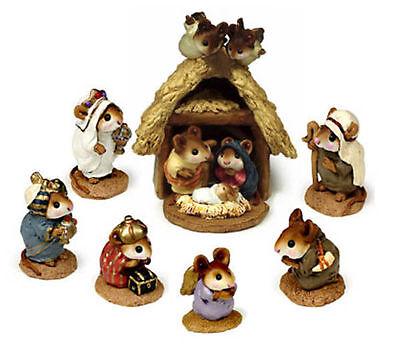 Wee Forest Folk Nativity Scene - Complete Set of 8 - Version B