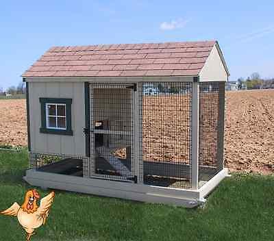 Chicken Coop Amish Pa Dutch Built Custom Pen Poultry Farm Shed Hen W Nest House