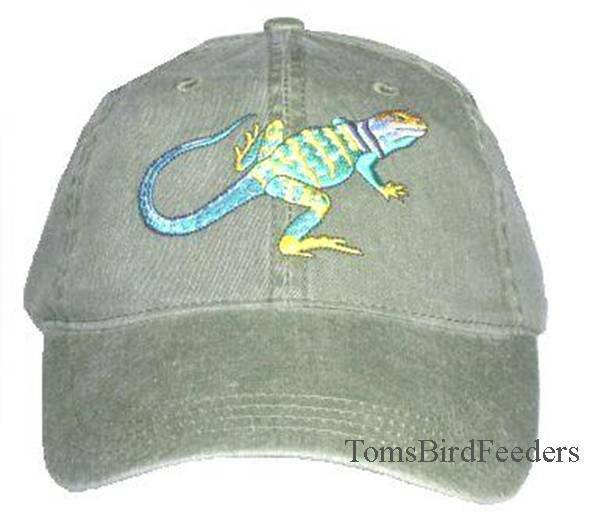 Collared Lizard Embroidered Cotton Cap NEW