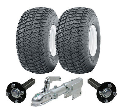 Extra heavy duty ATV trailer quad kit 900kg wheels hub & stub axles swivel hitch