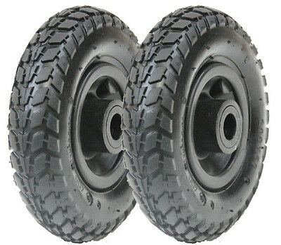 "pair 2 x 8"" 200x50mm pumped pneumatic wheel, roller bearings, hand truck, cart,"