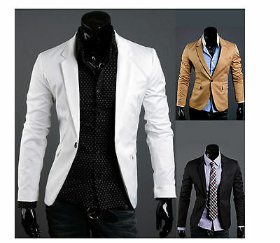 New Stylish Men's Casual Slim fit One Button Suit Blazer Coat Jackets