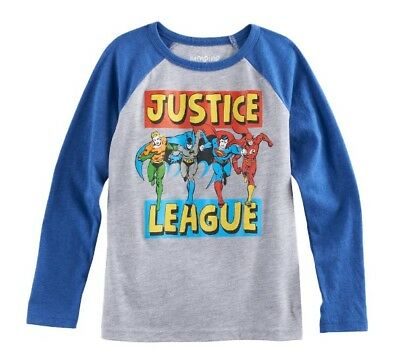 Boys Size 6 Long Sleeve Tee T Shirt Justice League Batman Superman NWT (Justice Boys)