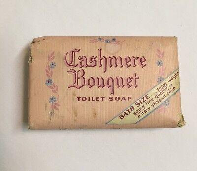 Vintage Cashmere Bouquet Toilet Soap Bar Bath Size Colgate-Palmolive-Peet - Colgate Palmolive Bar Soap