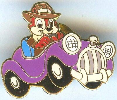 Disney Pins Aaa Travel Package Pin Chip Of Chip And Dale In Purple Car Pin