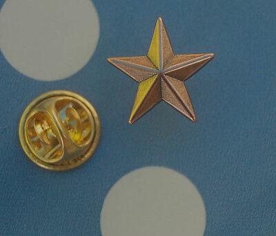 Stern kupferfarben  Pin Button Badge Anstecker TOP