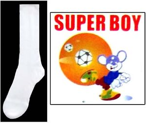 Boys-Nylon-White-Dress-Socks-Sizes-S-M-L-1-Pair-or-12-Pairs-Lot-E00020W