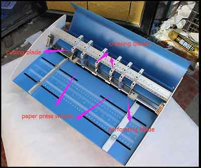 110v 18 460mm Electrical Creasing Machine Creaser Scorer Perforator 3in1 Paper