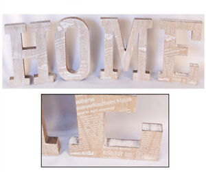 Wooden word letters 39 home 39 shabby chic vintage wall plaque for Furniture 5 letters word whizzle