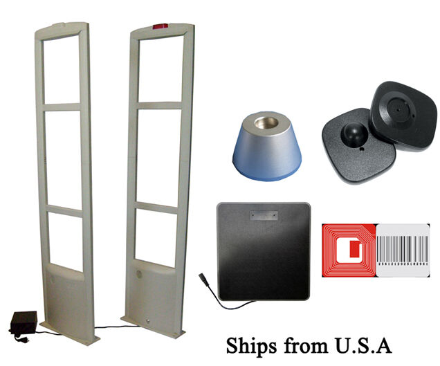 Checkpoint Compatible 8.2MHz EAS Tag & Label Combo Security System  fro USA