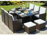 11 Piece Cube Garden Furniture Set - BRAND NEW