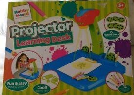 Projector learning desk.