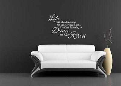 Learning to dance in the rain wall art sticker Home decor lounge living room Diy