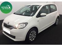 £148.64 PER MONTH 2014 WHITE SKODA CITIGO 1.0 SE 5 DOOR PETROL MANUAL