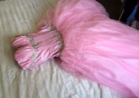 Size 8 pale pink prom dress with diamanté detail