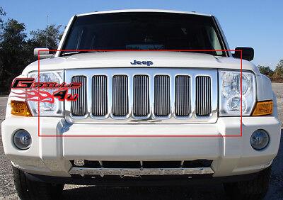 Fits 06-10 Jeep Commander Vertical Main Upper Billet Grille Insert