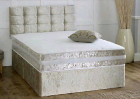 BRAND NEW CRUSHED VELVET BEDS AND MATTRESSES FREE DELIVERY 🔥🚚✅