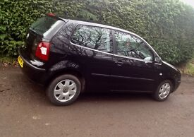 VW Black Polo. Manual. Petrol. Excellent first car
