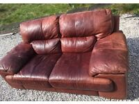 Soft leather sofa free delivery