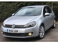 2011 Volkswagen Golf 2,0 litre diesel 5dr automatic 2 owners