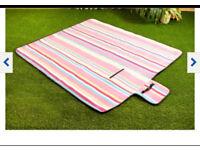 Brand new fleece picnic blanket