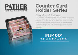 3 Tier Business Card Holder - Packs of 6 - PATHER PLASTICS