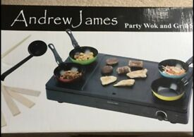 Brand New Andrew James Party Wok Set *Brand New*