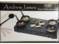 Brand New Andrew James Party Wok Set *Brand New*