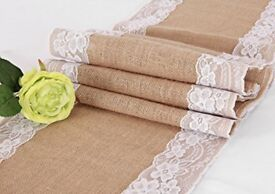 Rustic Hessian and Lace Table Runners