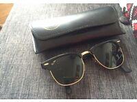 Genuine Ray Ban Clubmaster Sunglasses Black