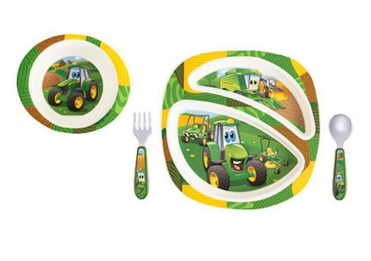 LP64811 John Deere ERTL Kids 4-Piece Dish Set