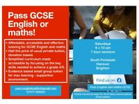 Pass GCSE English and maths with our small tutor groups