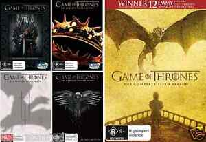 Game Of Thrones COMPLETE Season 1, 2, 3, 4 & 5 : NEW DVD
