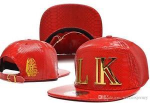 Last Kings Leather Snapback Street Brand Hip Hop Leather  Snakeskin Baseball cap